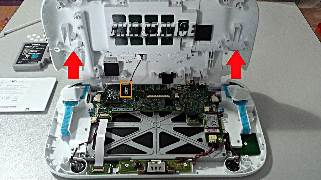 WiiPad U interno