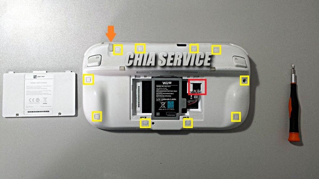 WiiPad U vano batteria